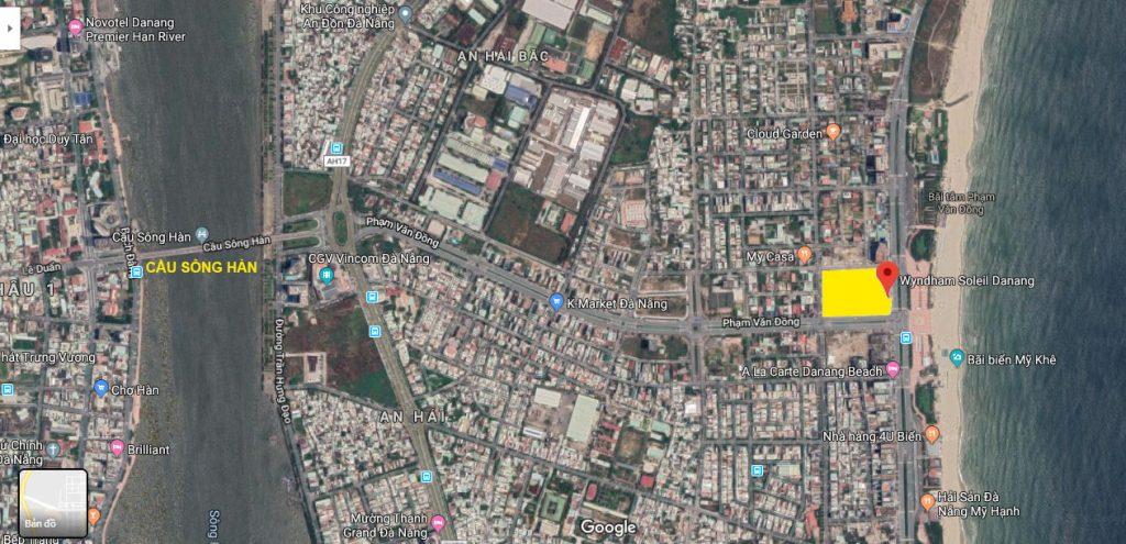 Vị trí vệ tinh Wyndham Soleil Đà Nẵng hay Soleil Ánh Dương Đà Nẵng